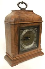 Lovely Camerer Cuss & Co London Elliott London Mantel Clock Brass Dial Walnut