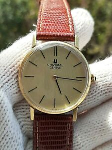 UNIVERSAL GENEVE 542 109 MANUAL CAL.1-42 GOLD PLATED MENS 32.5mm SWISS:SERVICED