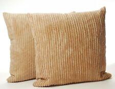 Plain Cushion Cover A Pair Chenille Stripe Super Soft Jumbo Cord
