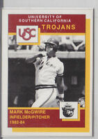 1990 SMOKEY BEAR USC TROJANS MARK MCGWIRE CARD CARDINALS ATHLETICS A'S SGA