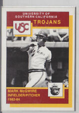 1990 Smokey Orso Usc Trojan Mark Mcgwire Moneta Scheda Cardinals Atleta A'S Sga