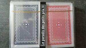 2 Jeux de 54 cartes , poker ,bridge,rami,belote,piquet,manille,jeu de 54 cartes