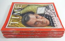 Lot of (12) 1955 TIME Magazines Ed Sullivan, NY Yankee Casey Stengel, Nixon, IBM