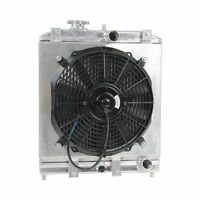 Aluminium Radiator +Shroud Fan For 1992-2000 Honda Civic EK EG DEL SOL 1993-1997