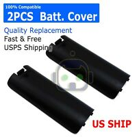 2x Black Replacment Battery Cover for Nintendo Wii Controller Remote