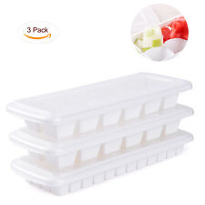 Ice Cube Tray with Lid - 2pcs Set of 12 Large Cubes and 1pcs 48 Small Ice Cubes