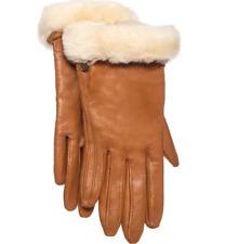 Ugg Women's Classic Leather Smart Tech Gloves - Chestnut