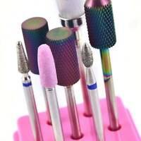 7Pcs Ceramic Carbide Nail Art Electric Rotary File Drill Bits Head Manicure - US