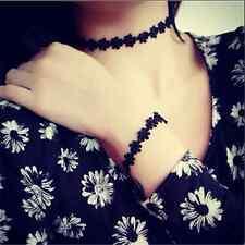 Choker Black Lace Chain Necklace Gift Women Modish Sexy Vintage Daisy Flower