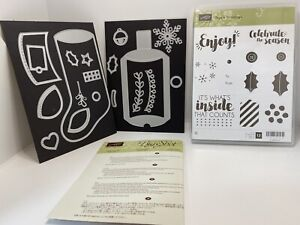 Stampin Up Tags & Trimmings Stamp And Trim Your Stocking Thinlets Sets