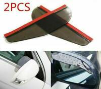 Universal Car Rear View Side Mirror Rain Boards Sun Visor Shade Shields Black x2