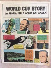 MONDIALI CALCIO WORLD CUP STORY STORIA MONDIALI INSERTO 1978 A FUMETTI