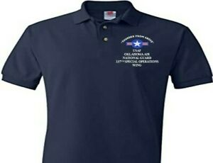 137TH SPECIAL OPERATIONS OKLAHOMA AIR GUARD EMBROIDERED POLO SHIRT/SWEAT/JACKET.