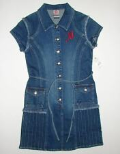 Makaveli Button Front Blue Denim Dress Youth Girls Large L 12-14 NWT