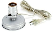 LOT OF 2 Zinc Mason Canning Jar PRE-WIRED Electric LAMP ADAPTER Converter Kit