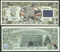 FREE SLEEVE Idaho Mountain Bluebird 1890 Dollar Bill Funny Money Novelty Note