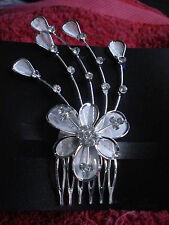 Bridal/Wedding Jewelry Crystal Flower Hair Comb,,GORGEOUS FREE POST