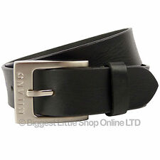 """Mens Full Grain Leather 1.5"""" (40mm) Wide Belt by Milano Stylish Jeans (Black)"""