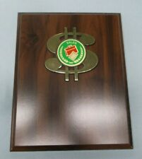 8 x 10 cherry finish plaque sales dollar sign award trophy personalized
