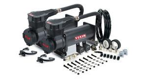 VIAIR Dual 485C Stealth Black Air Compressors Kit for Train Horns - 12V, 200 PSI