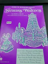 Vtg SCHAUM presents STRAUSS WALTZES Vintage Piano / Organ Sheet Music 1969