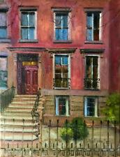 Greenwich Village Brownstone New York City 14x11 in. Oil on canvas Hall Groat II