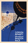 1930 Balloon Race Cleveland Ohio Travel Tourism Vintage Poster Repro FREE S/H