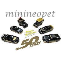 JOHNNY LIGHTNING JLCP7197 50th ANNIVERSARY IMPORT CARS ASSORTMENT 1/64 SET OF 6