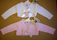 baby girls bolero style cardigan with ribbon bow