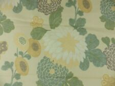 Thibaut Coco Modern Floral Curtain Upholstey Fabric Remnant Off Cut Green Yellow
