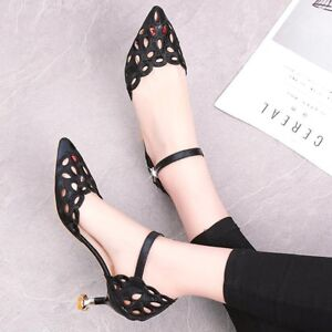 Summer Womens  Formal Sandals Block Heels Closed Toe Office Party Daily Lady Sho