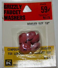 "Kirkhill Inc.Grizzly Faucet Washers Beveled size 3/8"" Wc-73 Nos plumbing"