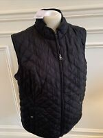 Croft & Barrow Quilted Vest in Black Size XL & XXL $44