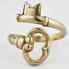 Estate Avon Women's 14K Yellow Gold Skeleton Key By-Pass Ring Size 9