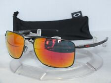 OAKLEY GAUGE 8 L AVIATOR SUNGLASSES OO4124-03 Matte Carbon / Ruby Iridium 0362