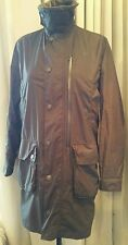 Ladies Barbour wax jacket size Small khaki green NEW.