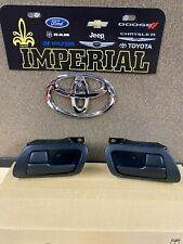 1993-1998 TOYOTA SUPRA GENUINE OEM FRONT INSIDE DOOR HANDLE & BEZEL SET BLACK