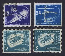 E Germany 1950/1 Winter Sports SGE5/6 used, SGE37 mint & Used