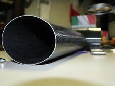 scarico ovale in fibra di carbonio twill 3k terminale moto int91x121 lung.mm 450