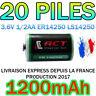LOT DE 20 PILES LITHIUM 3.6V 1/2AA ER14250 1200mAh 1.2A LS ER 14250 XL050F ACCU