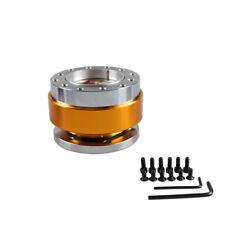 Aluminium Car Steering Wheel Quick Release HUB Adapter Snap Off Boss Kit GOLD