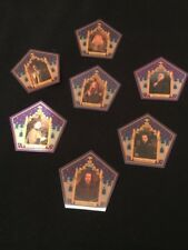 harry potter chocolate frog cards 7 Card Set