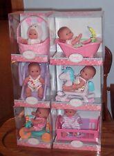 "NEW Set of 6 Berenguer Dolls Lots To Love Babies 5"" Mini Nursery PlaySets  VHTF"