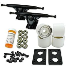 HD7 Longboard Combo set - Black trucks (Solid White)