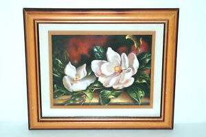 Framed & Mounted Magnolia Reproduction Print by Peggy Thatch Sibley