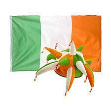 St Patrick's Day Novelty Fancy Dress Irish Colours Jester Hat with Ireland Flag