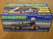 SCALEXTRIC C3668 Super Kart No.1 Solo Car/Blue NEW BOXED