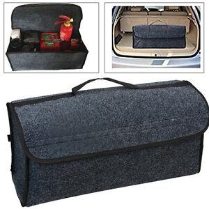 New Gray Felt Cloth For Car Auto Cargo Storage Organizer Bag Console Folding Bag