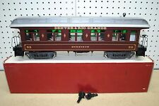 DELTON 3280 Denver & Rio Grande Long Passenger Car w/Lights *G-Scale*