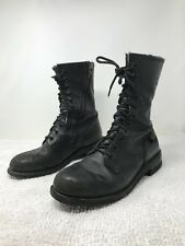 Harley Davidson Boots 10 Black Motorcycle 98424 Zipper Lace Up 11 inches Tall